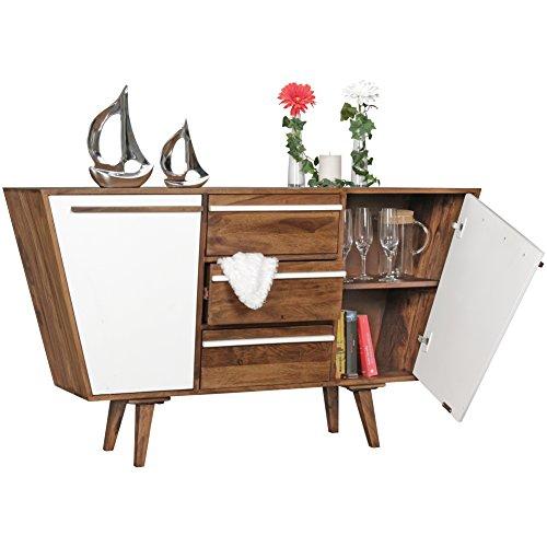 wohnling sideboard agra 140 x 80 x 42 cm massiv holz sheesham natur anrichte landhaus stil. Black Bedroom Furniture Sets. Home Design Ideas