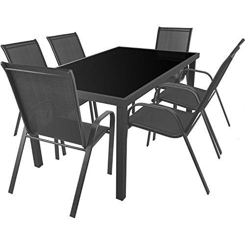 7tlg sitzgarnitur sitzgruppe gartenm bel balkonm bel terrassenm bel set gartengarnitur. Black Bedroom Furniture Sets. Home Design Ideas