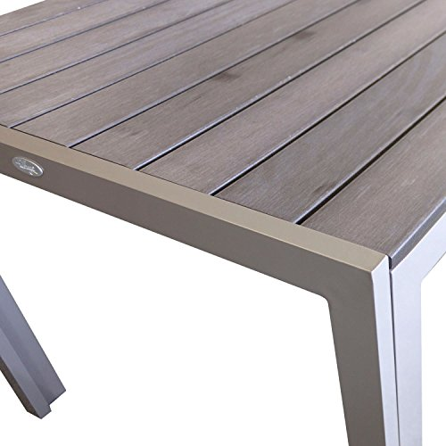 aluminium gartentisch esszimmertisch esstisch k chentisch mit polywood non wood tischplatte. Black Bedroom Furniture Sets. Home Design Ideas