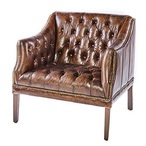 chesterfield ledersessel braun vintage antik look sessel lounge leder clubsessel mit. Black Bedroom Furniture Sets. Home Design Ideas