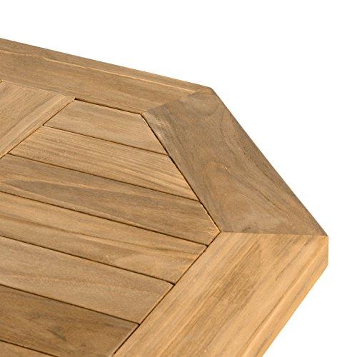 divero gl05526 balkontisch gartentisch beistelltisch holz teak tisch f r terrasse balkon. Black Bedroom Furniture Sets. Home Design Ideas