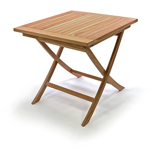 divero holztisch gartentisch teakholz 80 x 80 cm 0 skandinavische m bel. Black Bedroom Furniture Sets. Home Design Ideas