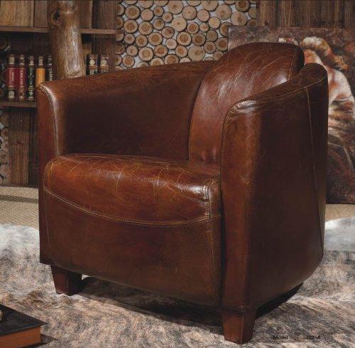 echtleder vintage sessel ledersessel braun design lounge clubsessel sofa m bel neu 443. Black Bedroom Furniture Sets. Home Design Ideas