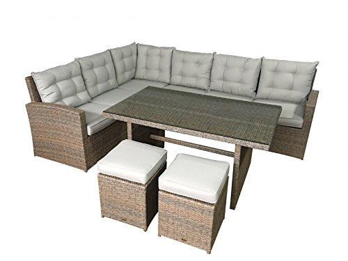 garten lounge la palma in natur sitzecke mit esstisch polyrattan gartenm bel von jet line. Black Bedroom Furniture Sets. Home Design Ideas