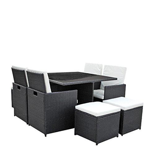 gartenm bel lounge set 4er sitzgruppe und essgruppe asviva dining lounge premium polyrattan. Black Bedroom Furniture Sets. Home Design Ideas