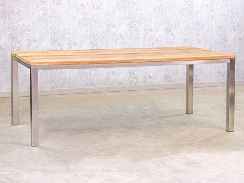 gartentisch teak edelstahl 200x100cm skandinavische m bel. Black Bedroom Furniture Sets. Home Design Ideas