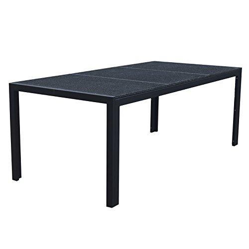 Granit tischplatte gartentisch gartenm bel outdoor for Gartentisch granitplatte