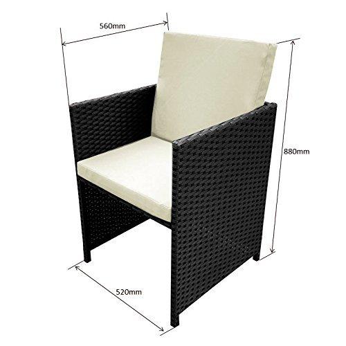 poly rattan essgruppe rattan set mit glastisch garnitur. Black Bedroom Furniture Sets. Home Design Ideas