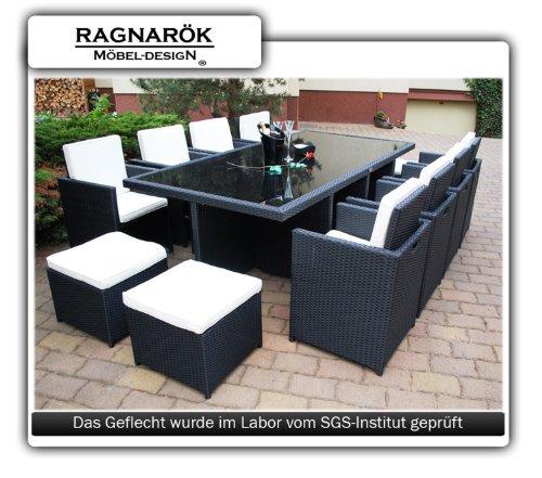 polyrattan essgruppe deutsche marke eignene produktion tisch 8 stuhl 4 hocker 8 jahre. Black Bedroom Furniture Sets. Home Design Ideas