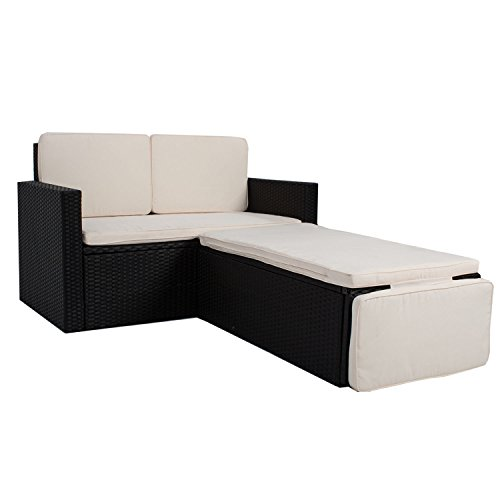 polyrattan gartenm bel sitzgruppe relax comfort f r 2 personen skandinavische m bel. Black Bedroom Furniture Sets. Home Design Ideas