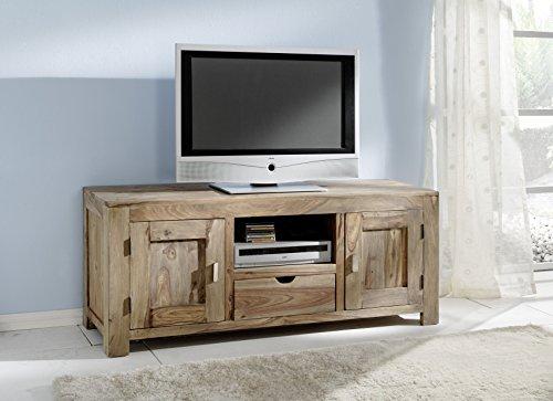 salesfever lowboard yoga natur 145 60 cm mit 2 t ren und 1 schublade tv schrank aus. Black Bedroom Furniture Sets. Home Design Ideas
