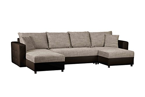 schlafcouch mit bettkasten recamiere rechts oder links montierbar wohnlandschaft mit. Black Bedroom Furniture Sets. Home Design Ideas