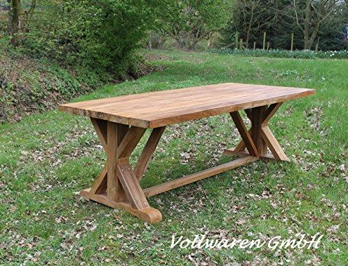 Teak gartentisch emyl 220 100 teakholz antik massiv tisch tafel gartenm bel skandinavische m bel - Gartentisch massiv ...