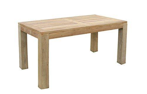 teak holz tisch rechteckig mit quadratischen eckbeinen 180x90x75cm skandinavische m bel. Black Bedroom Furniture Sets. Home Design Ideas