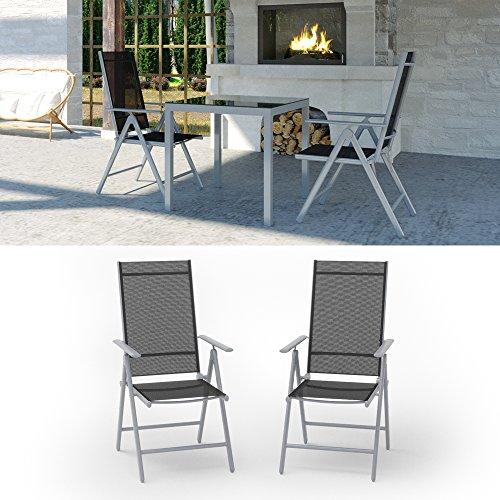 2er set alu gartenstuhl klappstuhl hochlehner campingstuhl aluminium liegestuhl 0 0. Black Bedroom Furniture Sets. Home Design Ideas
