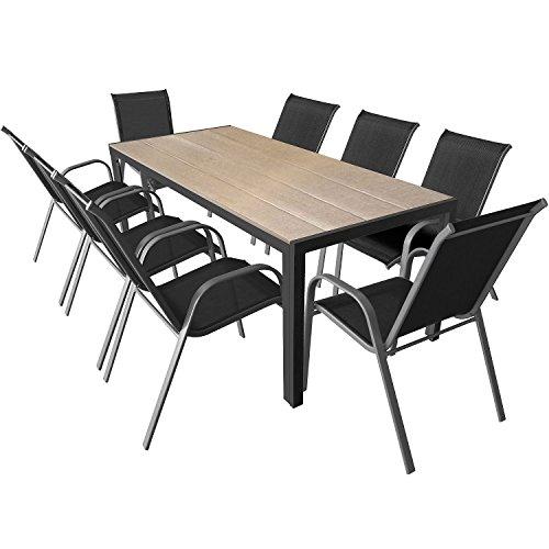 9 teiliges gartenm bel set gartengarnitur aluminium. Black Bedroom Furniture Sets. Home Design Ideas