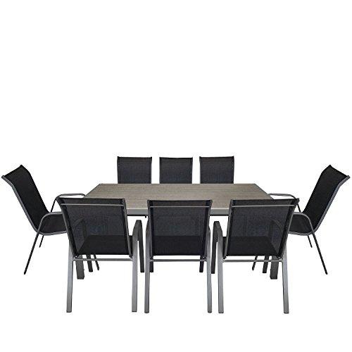 9tlg gartengarnitur aluminium polywood gartentisch. Black Bedroom Furniture Sets. Home Design Ideas