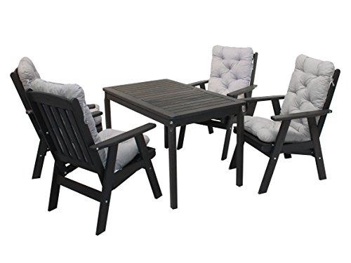ambientehome 90539 gartengarnitur gartenset sitzgruppe verstellbarer hochlehner varberg taupe. Black Bedroom Furniture Sets. Home Design Ideas