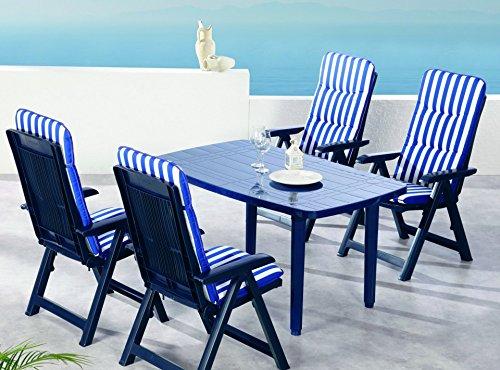 best 96296824 9 teilig komplett set santiago gartenm bel blau skandinavische m bel. Black Bedroom Furniture Sets. Home Design Ideas