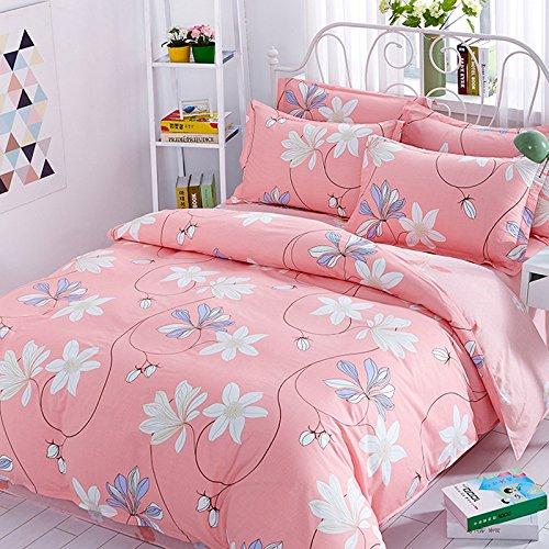 Bettwäsche 220 x 240 cm pastell natur floral