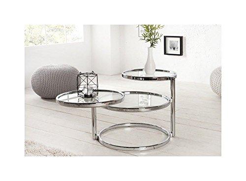 designer couchtisch rund chrom in silber tisch beistelltisch repro art deko rund praxis wohnung. Black Bedroom Furniture Sets. Home Design Ideas