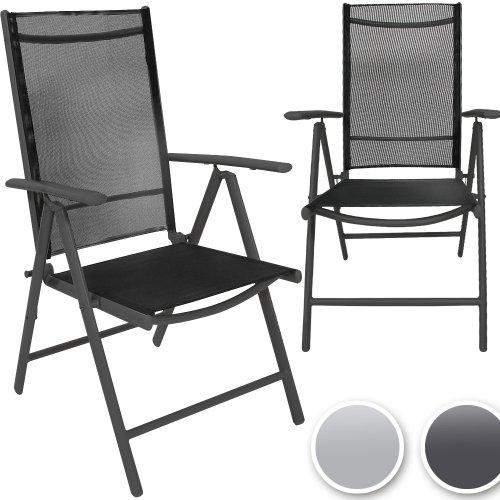 Miadomodo Gartenstuhl-Set Alustühle aus Aluminium mit Modell-, Farb- und Setwahl