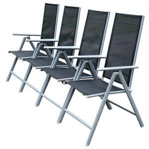outsunny 4 x alu klappstuhl gartenstuhl campingstuhl hochlehner 7 fach verstellbar 0 0. Black Bedroom Furniture Sets. Home Design Ideas