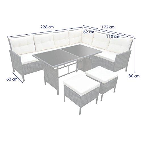 poly rattan set gartenm bel rattan lounge gartenset sofa garnitur couch eck xxl braun. Black Bedroom Furniture Sets. Home Design Ideas
