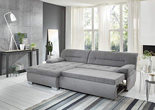 polsterecke grau trend mit bettfunktion schlaffunktion schenkelma 160 x 246 cm skandinavische. Black Bedroom Furniture Sets. Home Design Ideas