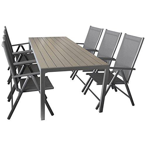 sitzgruppe gartengarnitur gartenm bel terrassenm bel set 7. Black Bedroom Furniture Sets. Home Design Ideas