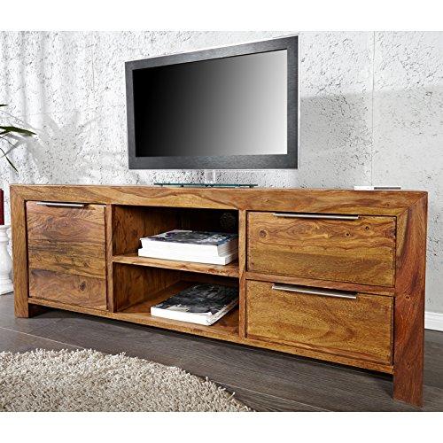 tv board borneo sheesham massiv 135x50x45 cm fernsehtisch tv tisch skandinavische m bel. Black Bedroom Furniture Sets. Home Design Ideas