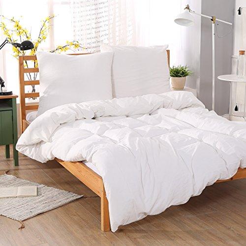 Unimall 3tlg. Seersucker-Bettwäsche 240x220 cm + 2x 80x80 cm aus 100% Bio Baumwolle Uni Beige pflegeleicht mit Reißverschluss