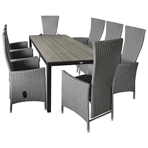 wohaga gartenm bel terrassenm bel set 9 teilig gartengarnitur sitzgarnitur sitzgruppe. Black Bedroom Furniture Sets. Home Design Ideas