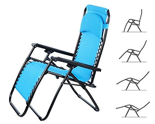 cooshional Stuhl Klappbar Liegestuhl Relaxsessel Garten Beach Outdoor Portable mit Armlehne Leicht Stabil