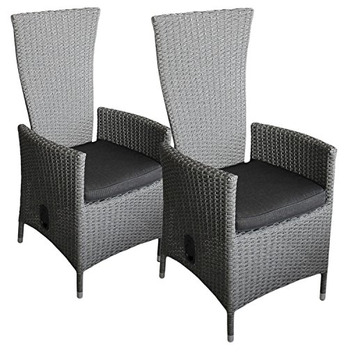 2 st ck poly rattan sessel rattanstuhl rattansessel. Black Bedroom Furniture Sets. Home Design Ideas