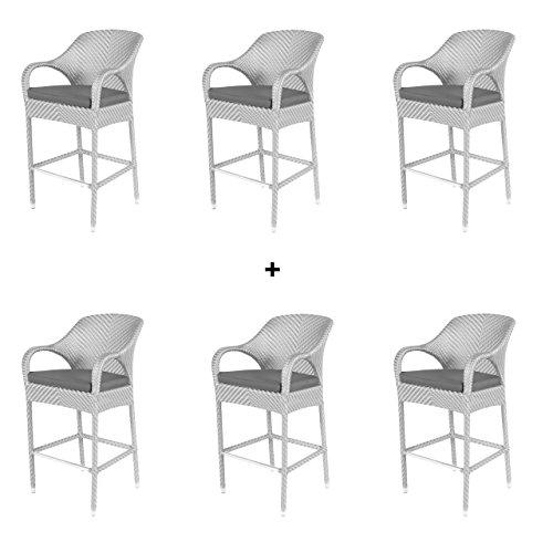 4seasons outdoor sussex 6er set barstuhl mit armlehne polyloom ice 213012 skandinavische m bel. Black Bedroom Furniture Sets. Home Design Ideas