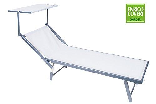 Bett Sonnenliege Meer weiß Aluminium Enrico Coveri Garten Hotel Lido 955082