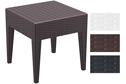 clp design garten beistell tisch miami kunststoff rattan optik stapelbar sonnenliegen. Black Bedroom Furniture Sets. Home Design Ideas