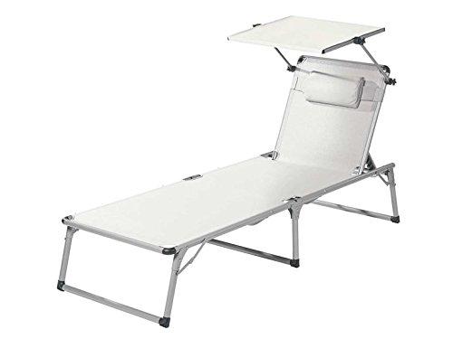 FLORABEST® Aluminium-Sonnenliege, weiß (Weiß)