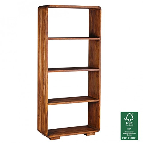 FineBuy Massivholz Bücherregal 85 x 35 x 190 cm Standregal