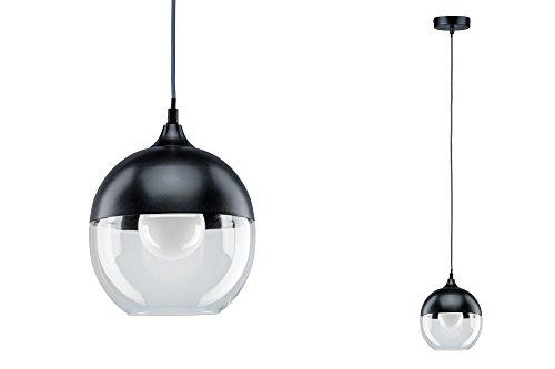 paulmann 79645 neordic vanja pendelleuchte e27 grau klar 230v glas metall. Black Bedroom Furniture Sets. Home Design Ideas