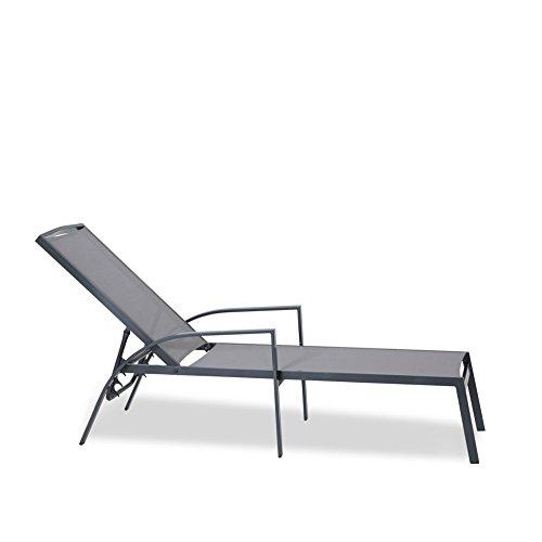 Sonnenliege Metall grau Batylen Gestell Alu 55x200cm Lounger Gartenliege - Siesta