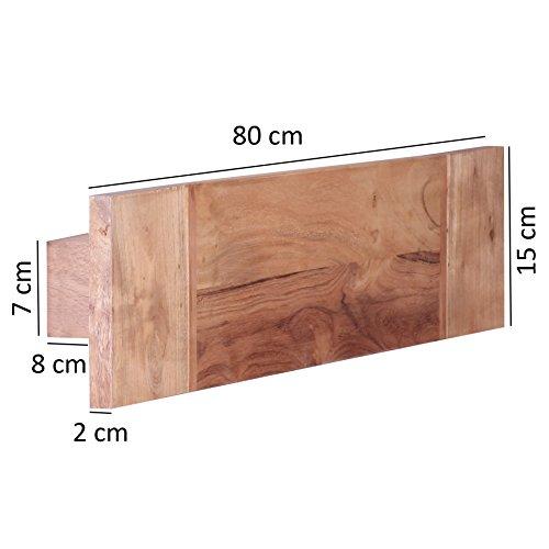 Wohnling Massivholz Wand Handtuchhalter
