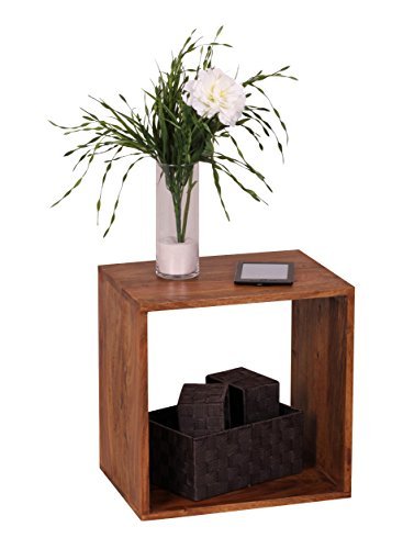 Wohnling WL1.559 Massivholz Akazie Cube Regal Holz