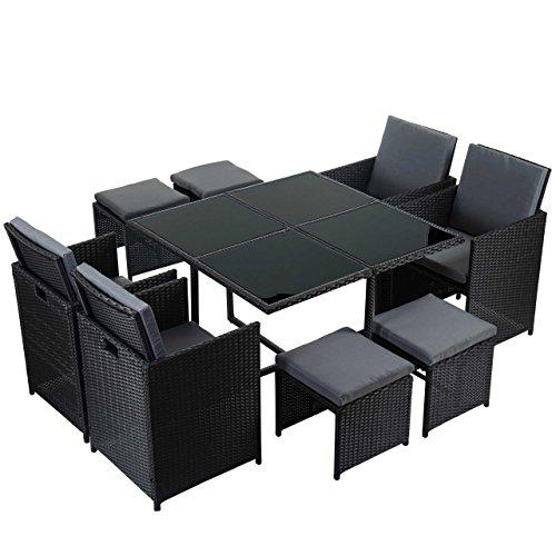 mendler poly rattan garten garnitur kreta lounge set. Black Bedroom Furniture Sets. Home Design Ideas
