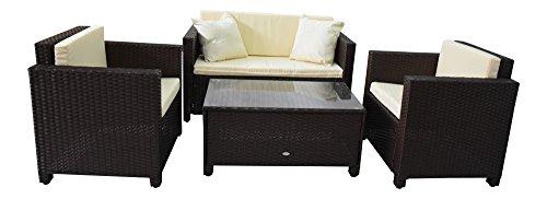 gartenmoebel garten lounge set sitzmoebel cannes braun rattan lounge polyrattan. Black Bedroom Furniture Sets. Home Design Ideas