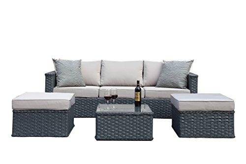 polyrattan gartenm bel 5 sitzer rattan outdoor sitzgruppe. Black Bedroom Furniture Sets. Home Design Ideas