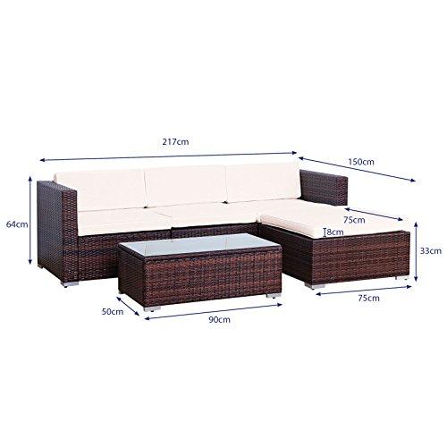 svita california poly rattan lounge gartenset sofa set. Black Bedroom Furniture Sets. Home Design Ideas