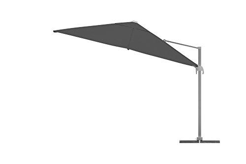 paramondo parapenda ampelschirm 4 x 3m rechteckig grau gestell inkl standkreuz anthrazit. Black Bedroom Furniture Sets. Home Design Ideas