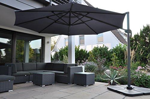 zangenberg ampelschirm sonnenschirm monaco 350 cm grau skandinavische m bel. Black Bedroom Furniture Sets. Home Design Ideas